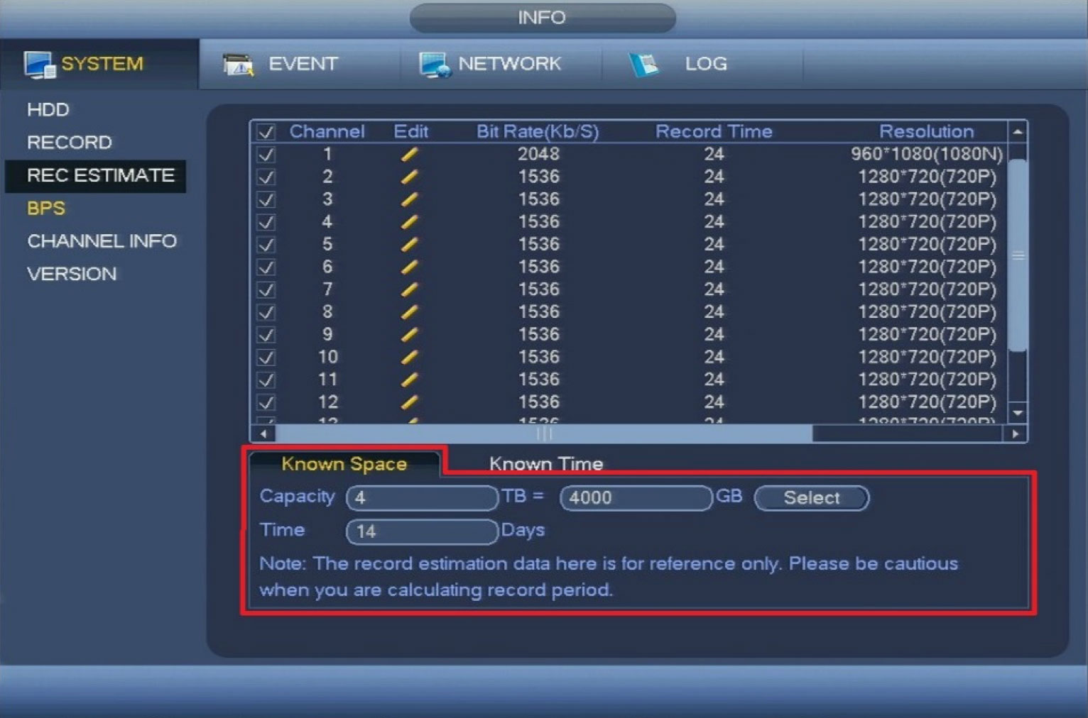 How To Calculate Storage For Ic Realtime Recorders